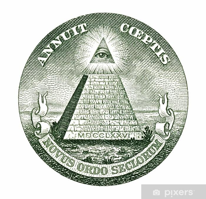 Papier peint vinyle Pyramide Dollar - Textures