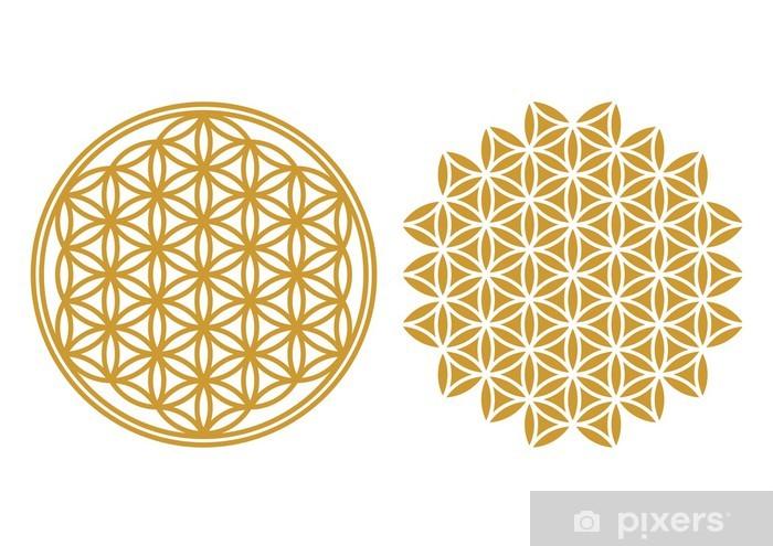 Vinyl Fotobehang Flower of Life - symbool van bescherming, Heilige Geometrie - Esoterisch