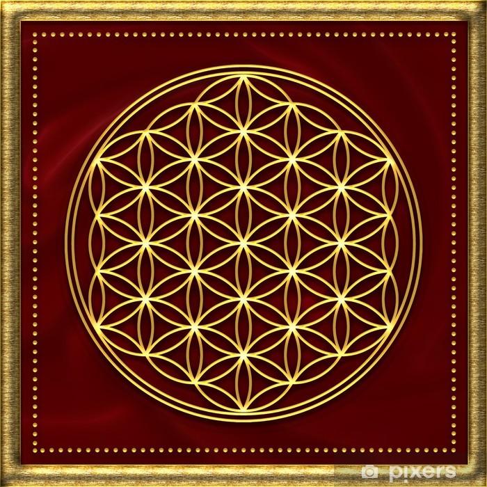 Naklejka Pixerstick Flower of Life / złota - Tematy