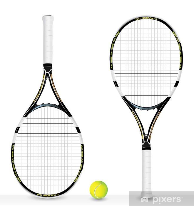 Fototapet av Vinyl Realistiska tennisracket och boll - vektor -  Individuella sporter 47d8ba55dc8b4
