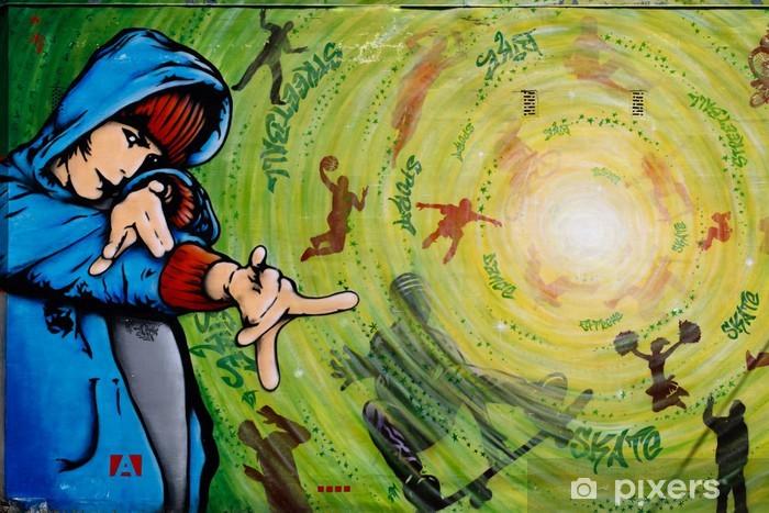Naklejka Pixerstick Graffiti na ścianie domu - Tematy