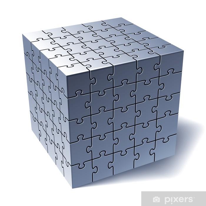 Nálepka Pixerstick Puzzle kostka. Všechny části dohromady - Hry