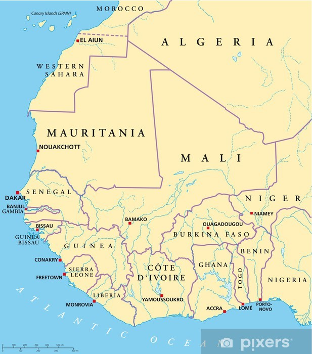 Afrika Karta Guinea.West Africa Map Wall Mural Pixers We Live To Change