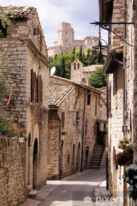Papier peint vinyle Rue médiévale italienne - Thèmes
