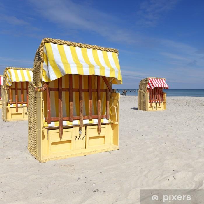 Poster Strandkorb - Urlaub