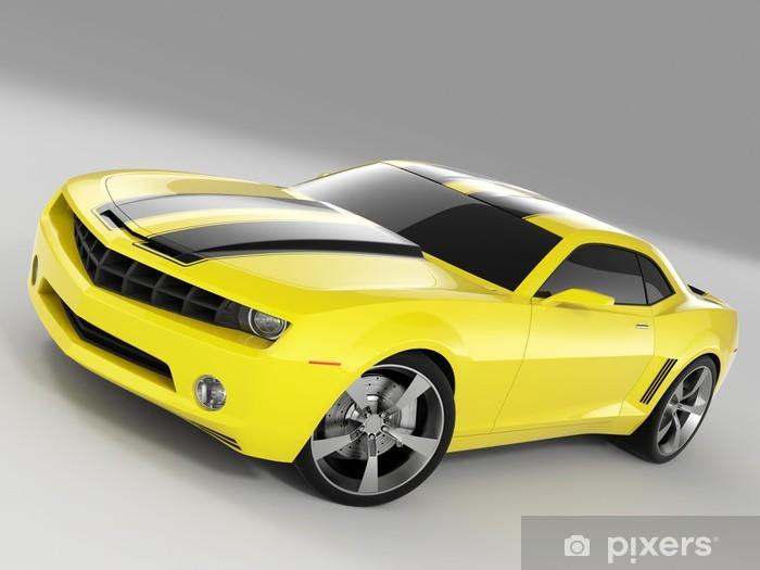 Fototapeta winylowa Żółty samochód sportowy - Przeznaczenia