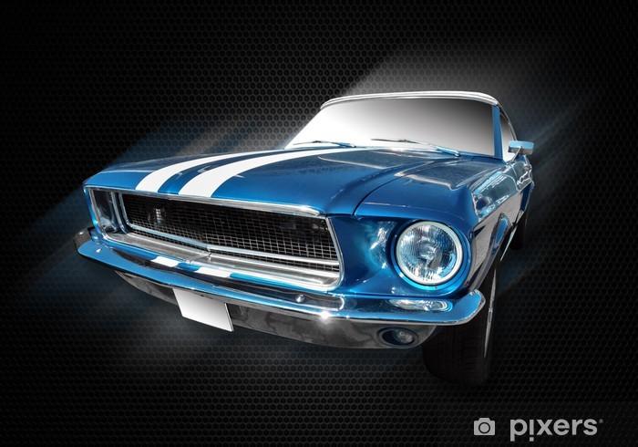 Vinil Duvar Resmi Ford Mustang - Karayolu