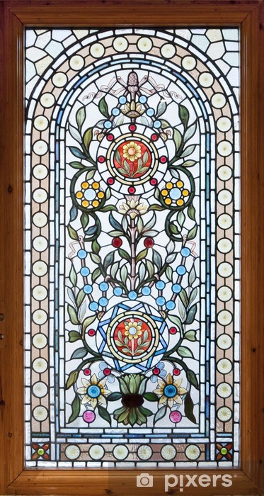 stained lead window Pixerstick Sticker - Art and Creation