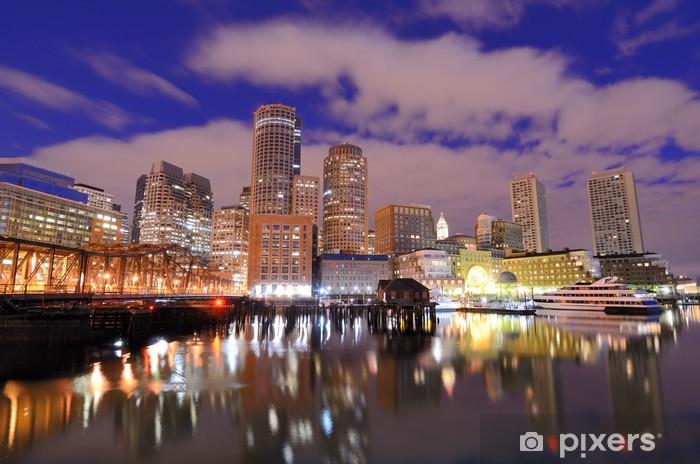 Vinylová fototapeta Boston přístav Skyline - Vinylová fototapeta