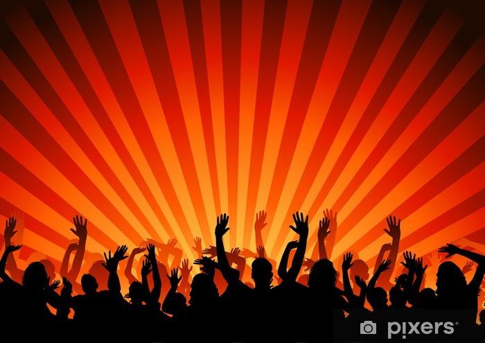 Pixerstick Dekor Party publiken - Hio hop