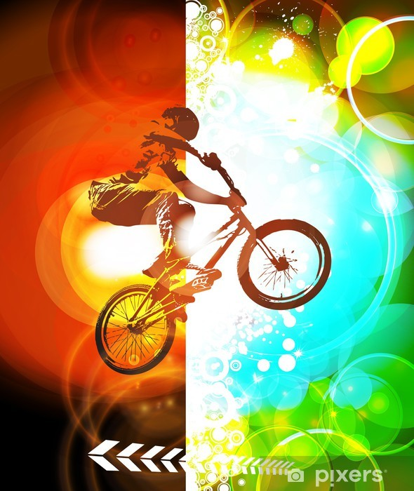 Vinyl-Fototapete Illustration der BMX Radfahrer - Radsport