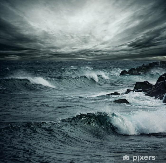 Naklejka Pixerstick Burza oceanu -