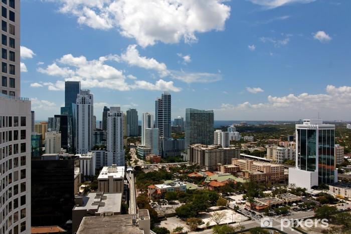 Fototapeta winylowa Widok z wieży Apartment Across Miami Brickell - Ameryka