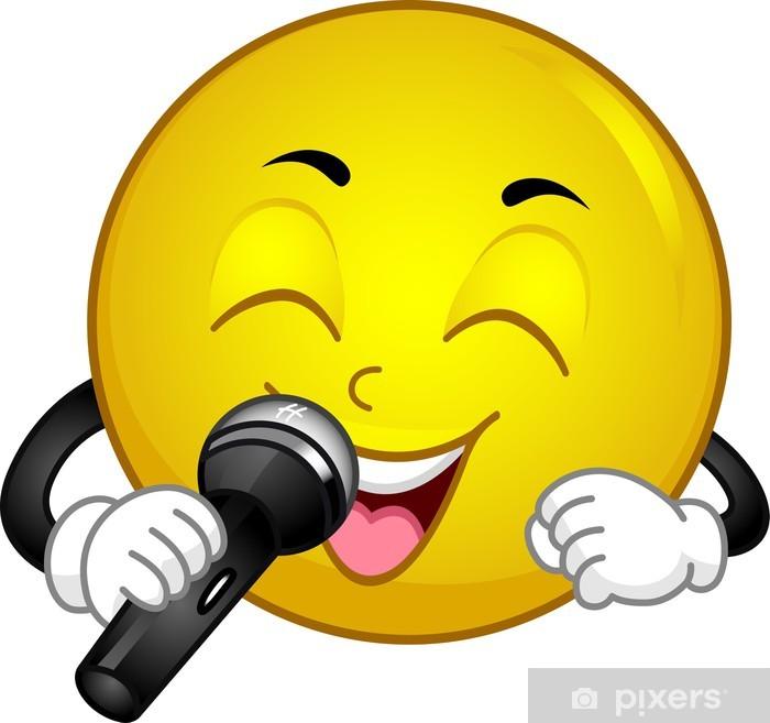 Poster Singing Smiley - Zeichen und Symbole