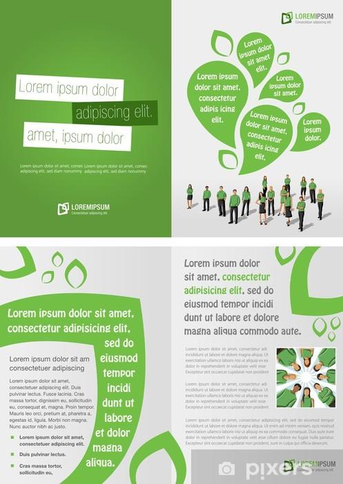 Papier peint vinyle Modèle vert pour brochure publicitaire des gens d'affaires - Ecologie