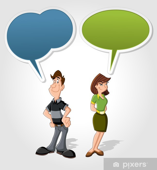 Cartoon Man And Woman Talking With Speech Balloon Wall Mural Pixers We Live To Change In different games, they either play against each. https pixers net au wall murals cartoon man and woman talking with speech balloon 40595721