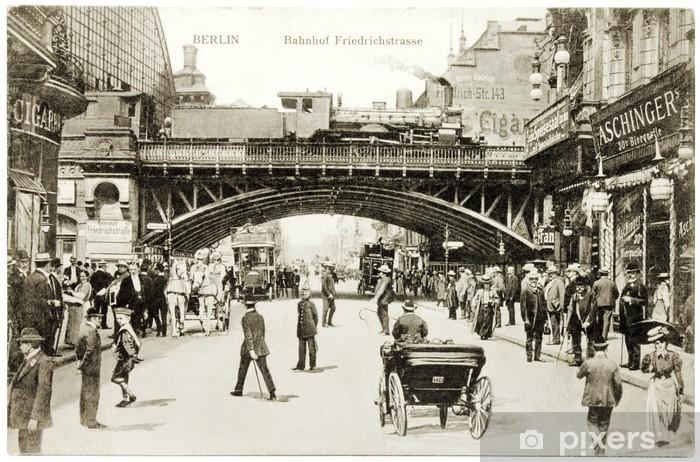 Fototapeta winylowa Friedrichstraße pocztówki - Berlin