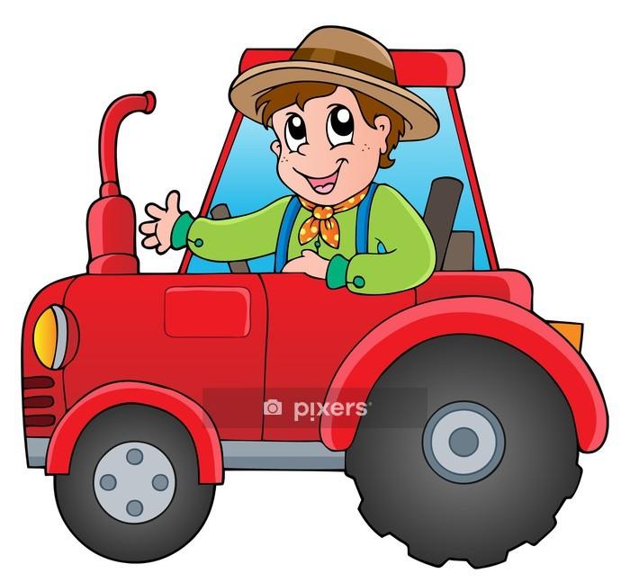 Nalepka Na Steny Kresleny Farmar Na Traktoru Pixers Zijeme Pro