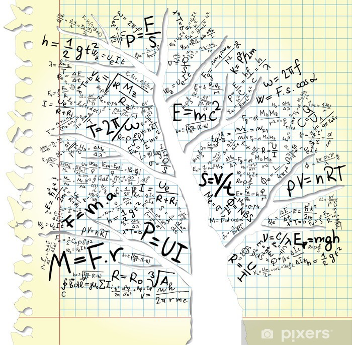 Paper with tree and equations Poster - Education
