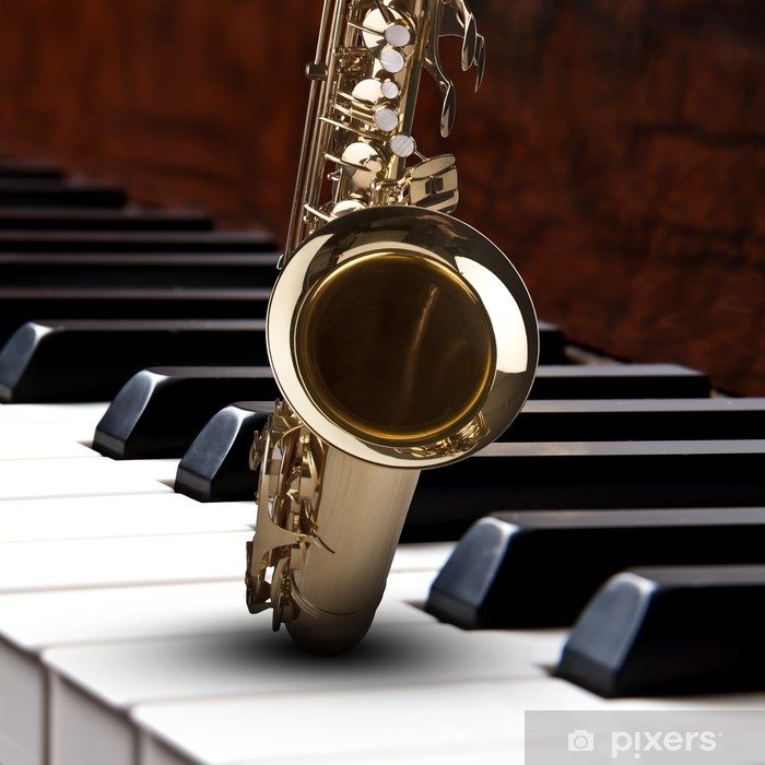 Sticker Saxophone piano Hintergrund • Pixers® - Nous vivons pour changer