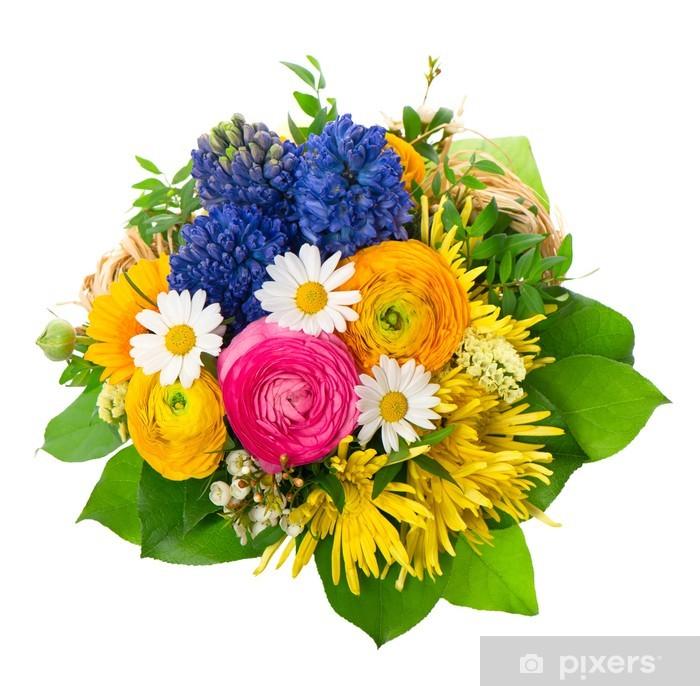 Fototapeta winylowa Piękny bukiet z kolorowych wiosennych kwiatów - Dom i ogród