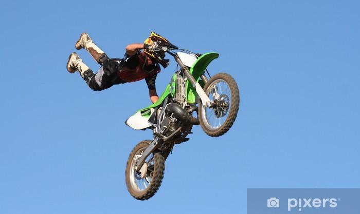 Sticker Pixerstick Motocross Stunt - Sur la route