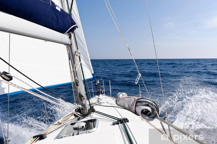 Fotomural Estándar Velocidad del velero en el mar - iStaging