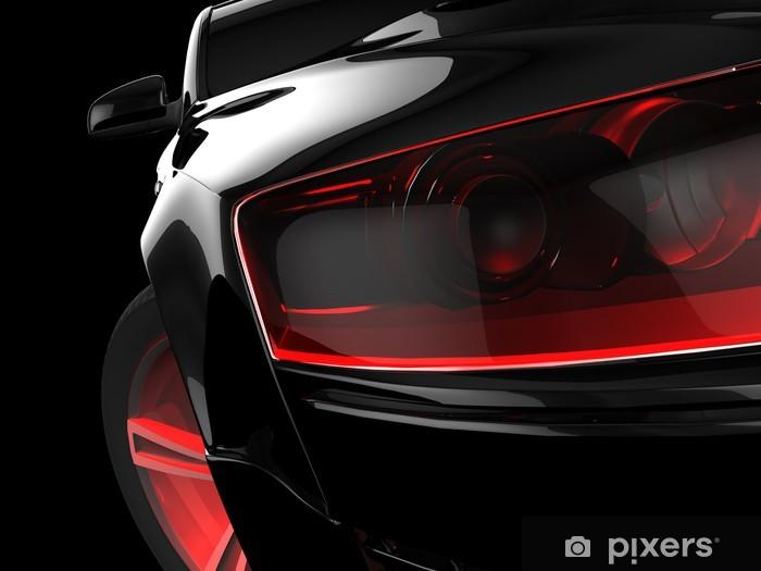 Naklejka Pixerstick Mój własny projekt samochodu 3D - Transport drogowy