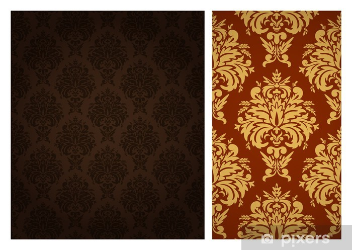 Papier peint vinyle Seamless retro wallpaper - Arrière plans