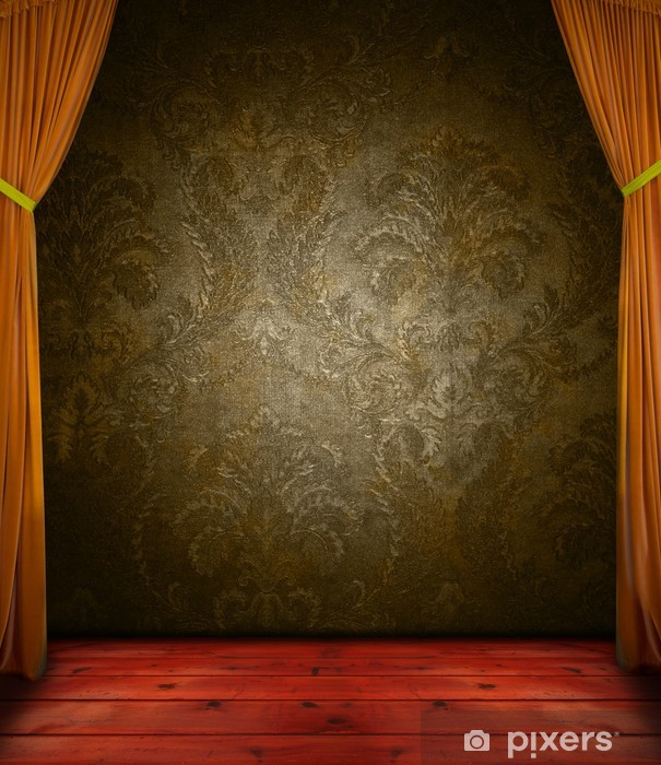 Retro curtain with stage Vinyl Wall Mural - Raw Materials