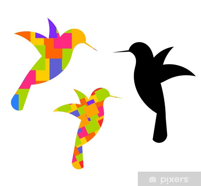 Hummingbirds Pixerstick Sticker - Birds