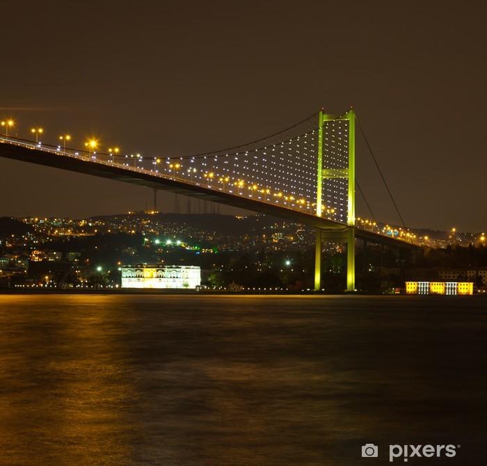 Papier peint vinyle Pont du Bosphore à la nuit - Vacances