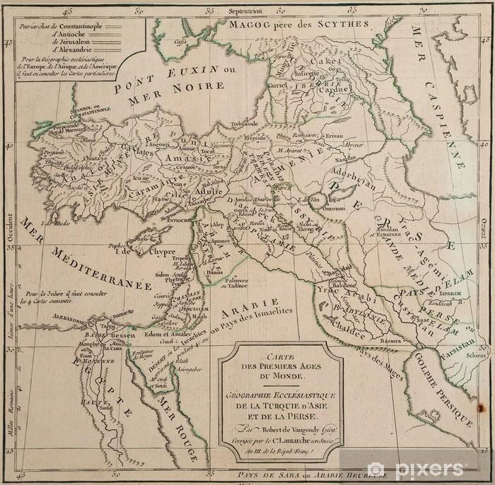 Persien Karte.Aufkleber Antike Karte Von Kirchlichen Türkei Und Persien Pixerstick