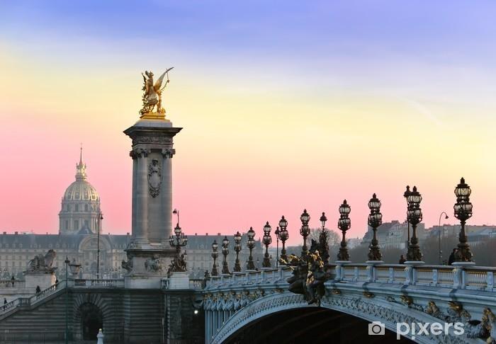 Fototapeta winylowa Alexander III Bridge. Paris, Sunset ... - Tematy