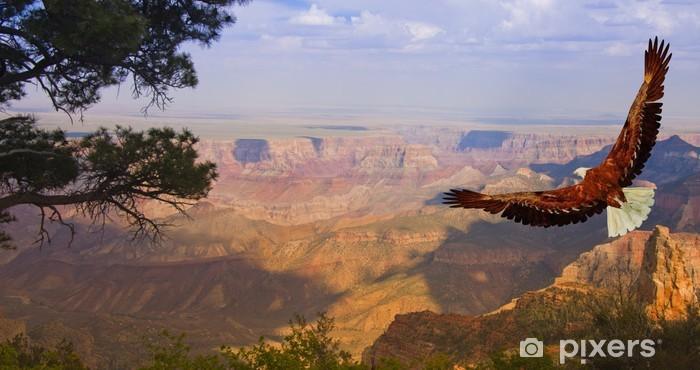 Pixerstick Sticker Adelaar neemt vlucht over de Grand Canyon USA - Noord-Amerika