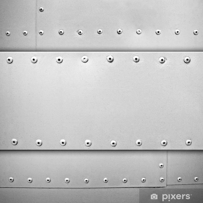Vinyl Fotobehang Staal sjabloon - Grondstoffen