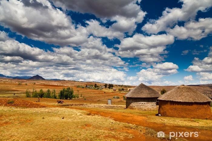 Papier peint vinyle Village dans une vallée en Afrique - Afrique