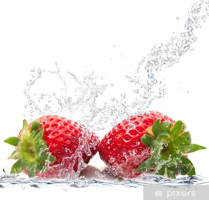 Fotomural Estándar Fragole splash - Vinilo para pared