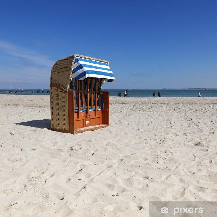 Vinyl-Fototapete Strandkorb - Urlaub