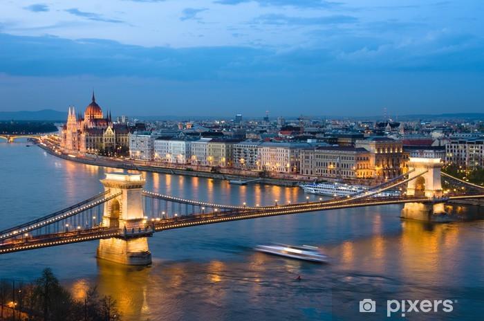 Naklejka Pixerstick Budapeszt, Cityscape By Night - Tematy