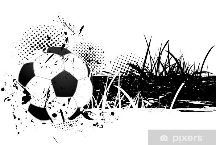 Fototapeta winylowa Grunge z piłki nożnej -