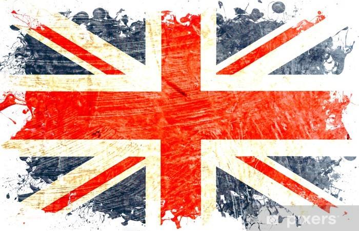 Fotomural Estándar Inglés bandera decoupe - Banderas nacionales