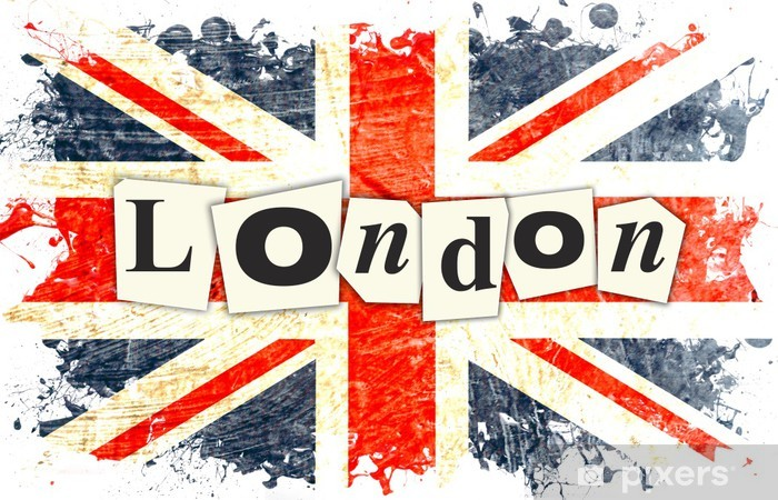 Fototapeta winylowa British flag london - Tematy