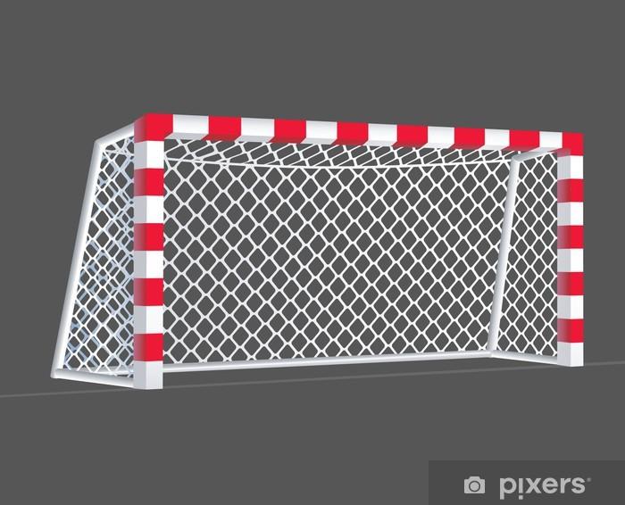 Bord- og skrivebordsklistremerke Fotballmål med rektangulære målposter. - Lagidrett