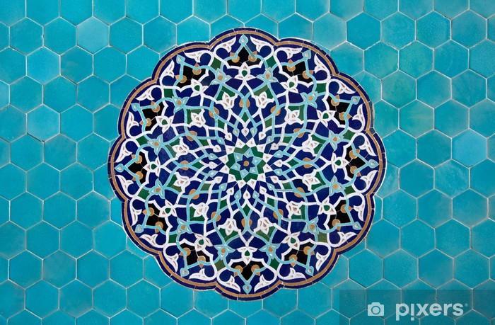 Naklejka Pixerstick Islamski mozaiki z niebieskimi płytkami - iStaging
