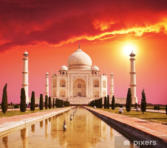 Taj Mahal palace in India Pixerstick Sticker -