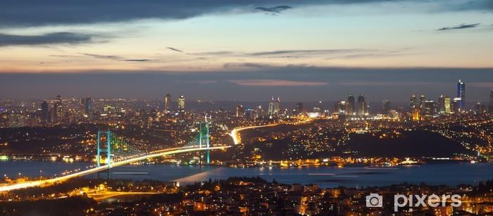 Vinyl Fotobehang Bosporus-brug in de nacht 8 - Bestemmingen