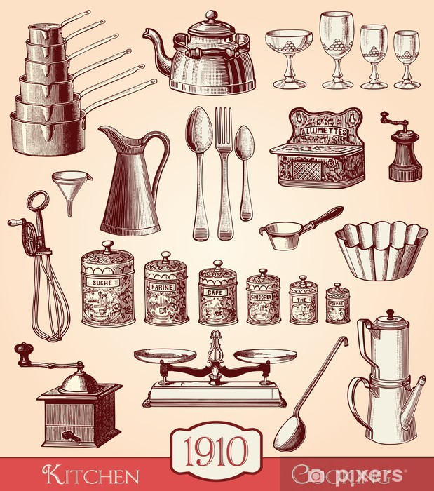 Fotomural Estándar Ustensiles de cuisine - Temas