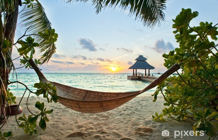 Hammock on the beach Pixerstick Sticker - iStaging