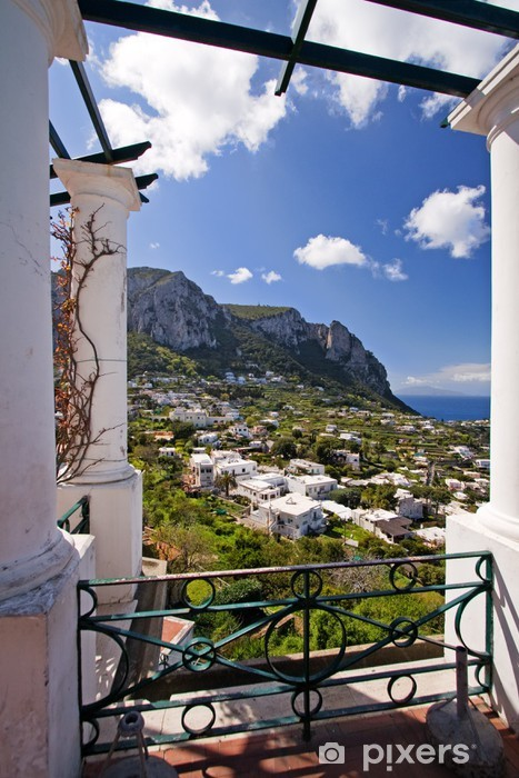 beautiful view on capri island, italy Pixerstick Sticker - Europe